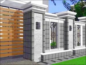 desain warna cat pagar rumah yang bagus