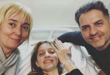 La periodista celebra junto a Paloma el éxito de la operación