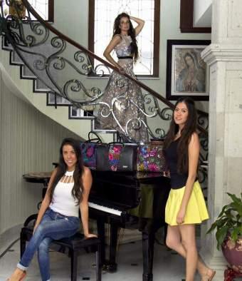 Diseños de Erika Alvarez Koua con los textiles de Malacate