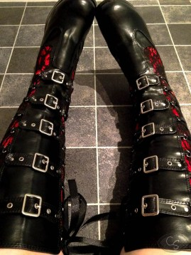 Demonia Crypto 106 gothic punk industrial boots photo