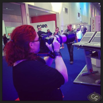 Lady Photographer does PLASA