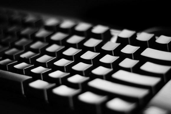 keyboard - typewriter - writer - black and white