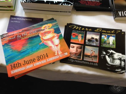 smut by the sea postcards flyers and business cards at eroticon 2014