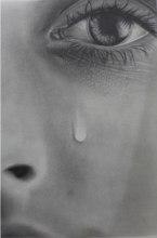 sad girl's eye