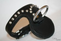 uber kinky spiked bondage collar and O ring-9