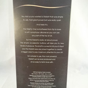Ann Summers The Mighty One Rabbit Vibrator - cara sutra review-3