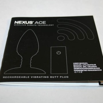 Nexus Ace Remote Controlled Butt Plug-CS-800-10