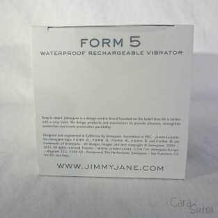 Jimmyjane FORM 5 vibrator - cara sutra review-8