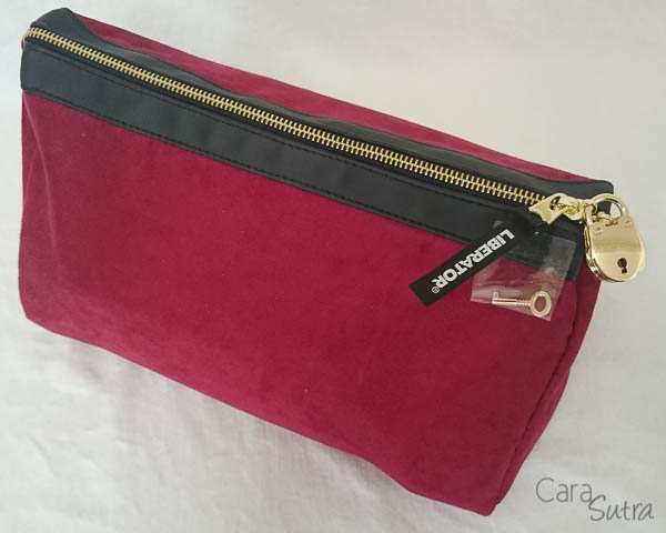 liberator red lockable sex toys storage bag - cara sutra review-1