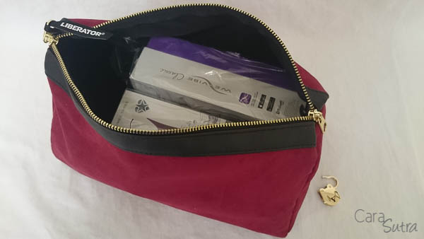 liberator red lockable sex toys storage bag - cara sutra review-12
