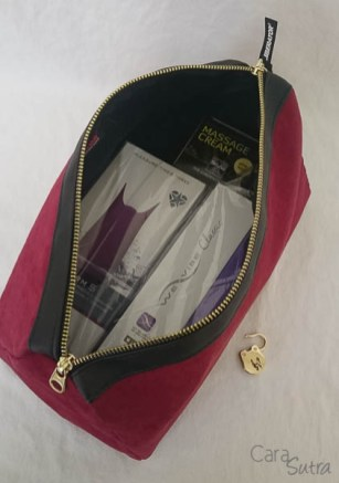 liberator red lockable sex toys storage bag - cara sutra review-13