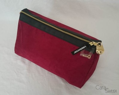 liberator red lockable sex toys storage bag - cara sutra review-2