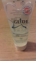 Just Glide Water Based Lube Pleasure Panel review at Cara Sutra