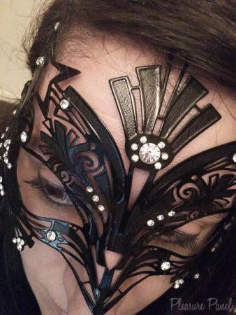 Black Filigree Masquerade Mask Liona Sassy Amour Cara Sutra Pleasure Panel Review-1