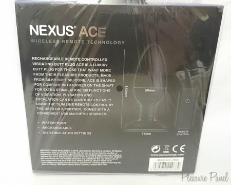 Nexus Ace Large Butt Plug March 2016 Pleasure Panel Review