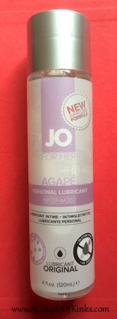 System JO For Her Agapé Water Based Lube Review Pleasure Panel 4