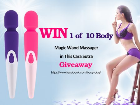 Win 1 of 10 Tracys Dog Magic Wand Vibrators in this Christmas Giveaway