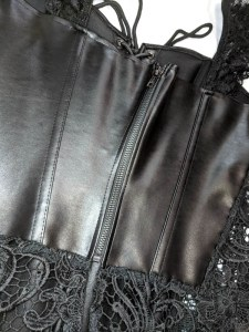 Dreamgirl Beyonce Faux Leather And Lace Corset Review 1-17