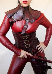 Mistress Cara Red Leather Mord-Sith Cosplay Outfit-52