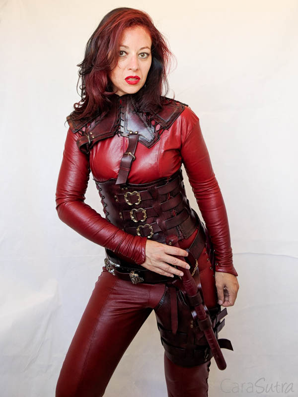 Mistress Cara Red Leather Mord-Sith Cosplay Outfit-90
