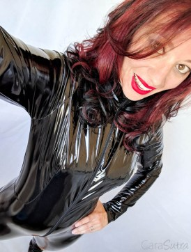 Vawn and Boon PVC Catsuit Review Cara Sutra-12