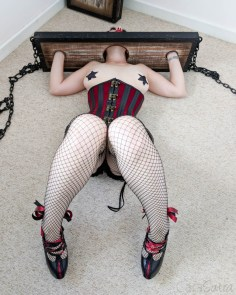 Lodbrock Handmade Wooden BDSM Pillory Set Review-79