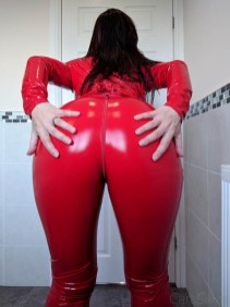 Vawn and Boon Red PVC Catsuit Review 2018-68