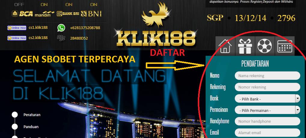CARA DAFTAR KLIK188
