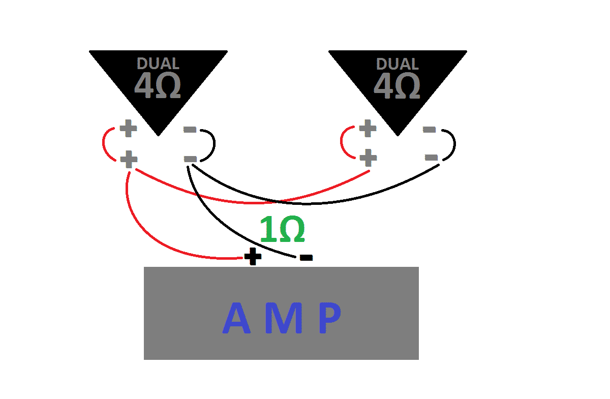 4 ohm dvc subs wiring how to wire subs series parallel  ohms  and single vs dual voice  how to wire subs series parallel  ohms
