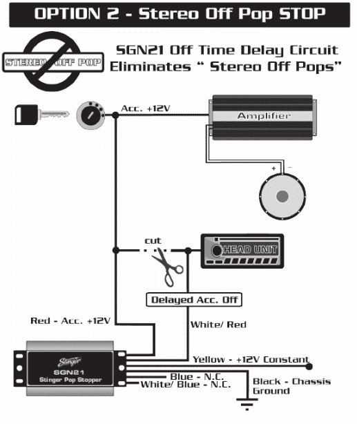 car sound system setup diagram 3 way lighting circuit wiring how to fix amp speaker turn on off pop audio advice click enlarge