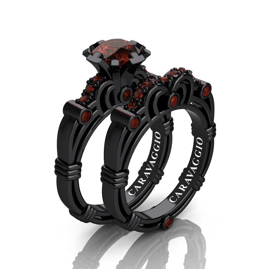 Art Masters Caravaggio 14K Black Gold 1.0 Ct Brown Diamond
