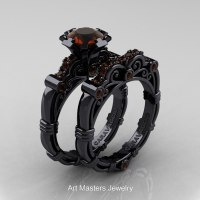 Art Masters Caravaggio 14K Black Gold 1.0 Ct Brown Diamond