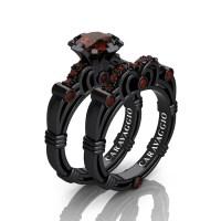 Art Masters Caravaggio 14K Black Gold 1.0 Ct Brown Diamond ...