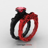 London Exclusive Caravaggio 14K Black and Red Gold 1.25 Ct ...