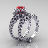 Caravaggio Lace 14K White Gold 1.0 Ct Ruby Diamond