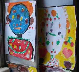 Atelier creatie - picturi copii inspirate de Arcimboldo