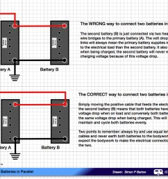 how to connect two batteries in parallel caravan chronicles series and parallel wiring parallel battery bank wiring parallel [ 1247 x 881 Pixel ]