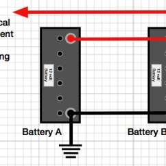 Two Battery Wiring Diagram Cub Cadet Lt1042 Parts How To Connect Batteries In Parallel Caravan Chronicles The Correct Way