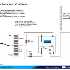 Car Led Light Wiring Diagram Interior Parts Daylight Running Lights Drls On A Caravan