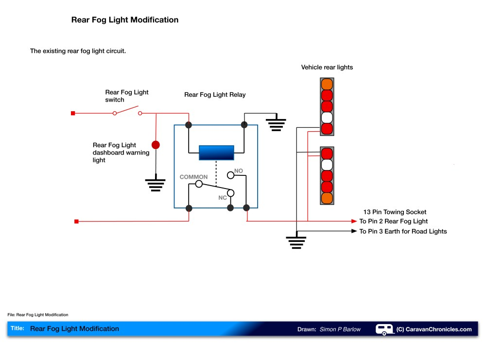 medium resolution of if we look at the drawing above we can see that turning on the fog light switch energises the relay and that allows current to flow to the rear fog lights