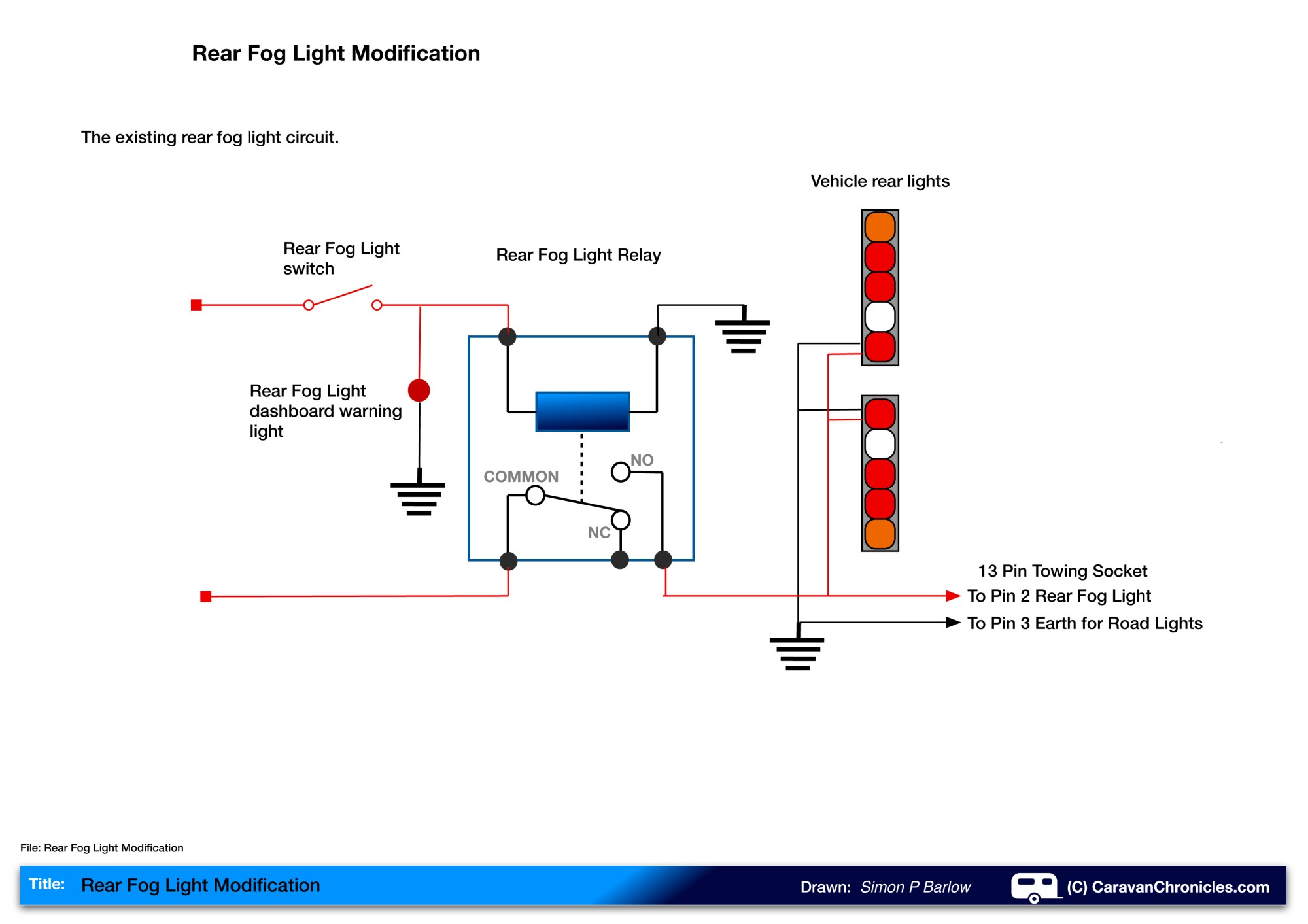hight resolution of if we look at the drawing above we can see that turning on the fog light switch energises the relay and that allows current to flow to the rear fog lights