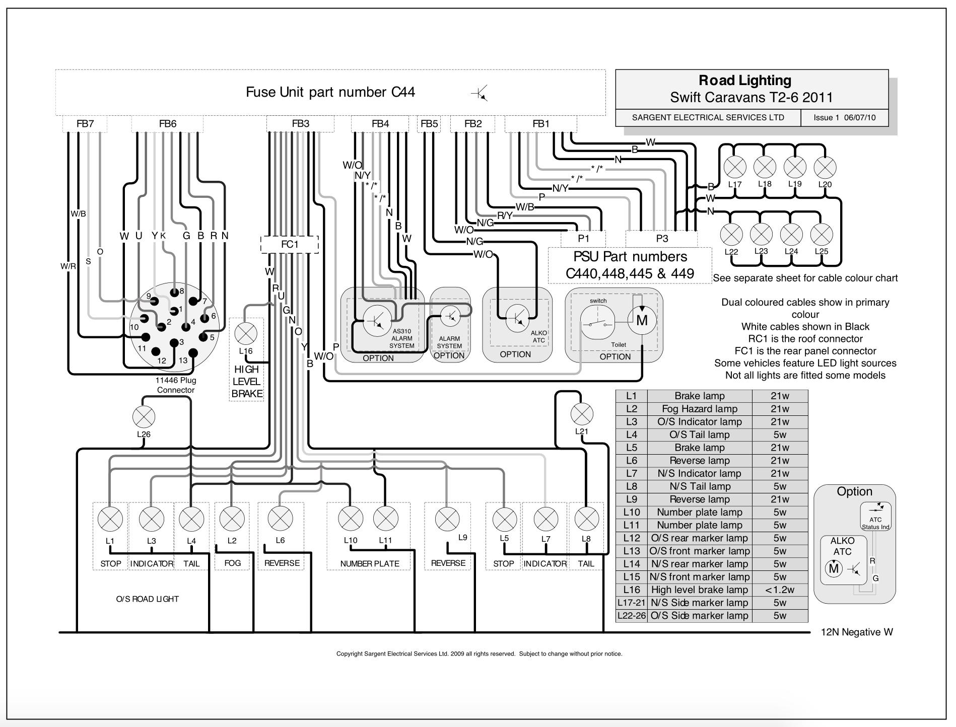 wiring diagram for caravan water pump