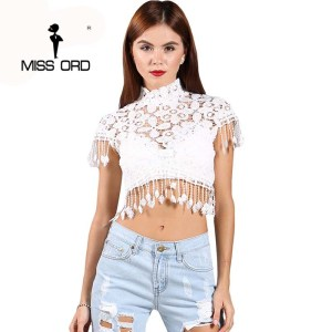 Free shipping 2017 Sexy lace stitching tassels sexy tops FT2319
