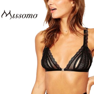 Missomo 2017 New Fashion Women Black Sexy Push Up Lace Cross Back Wireless Trim Underwear Soft Nets Breatable Bras