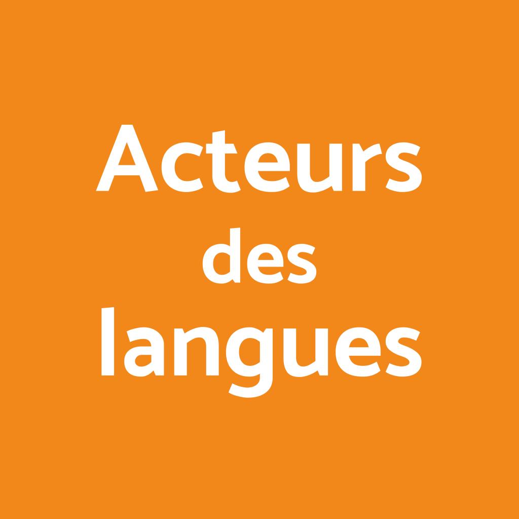 Acteurs des langues