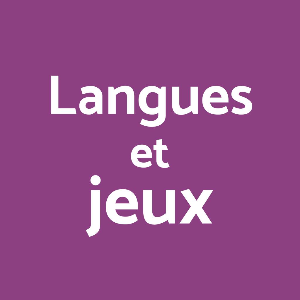 Langues et jeux