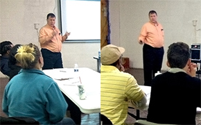 Dave Hayes conducts safety training