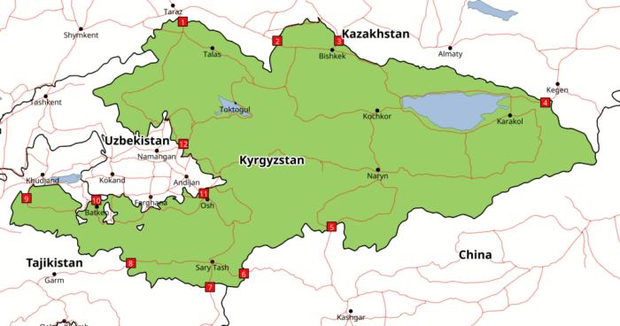 Cruces fronterizos Kisguistán