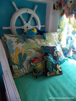 Custom Sewn 'Under Sea' Pillow Shams for Island Tiny Home RV