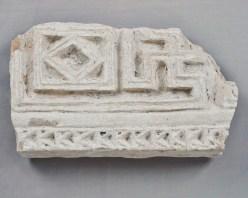 Carved stucco fragment excavated at Sijilmasa. Ministère de la culture et de la communication du Royaume du Maroc. Photograph by Fouad Mahdaoui